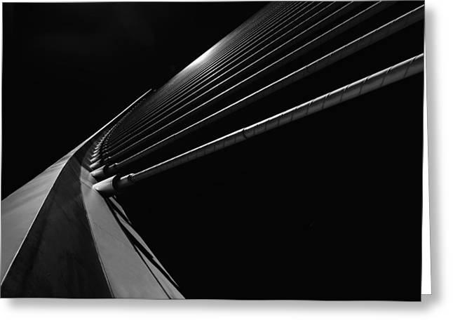 Calatrava Greeting Cards - Bridge Lines Greeting Card by Gerard Jonkman