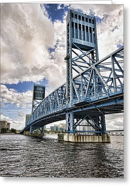 Jacksonville Greeting Cards - Bridge of Blues II Greeting Card by Anthony Baatz