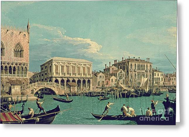 1768 Greeting Cards - Bridge of Sighs Greeting Card by Canaletto