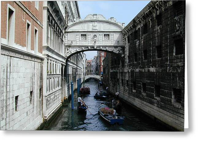 Bridge of Sighs Greeting Card by Joseph R Luciano