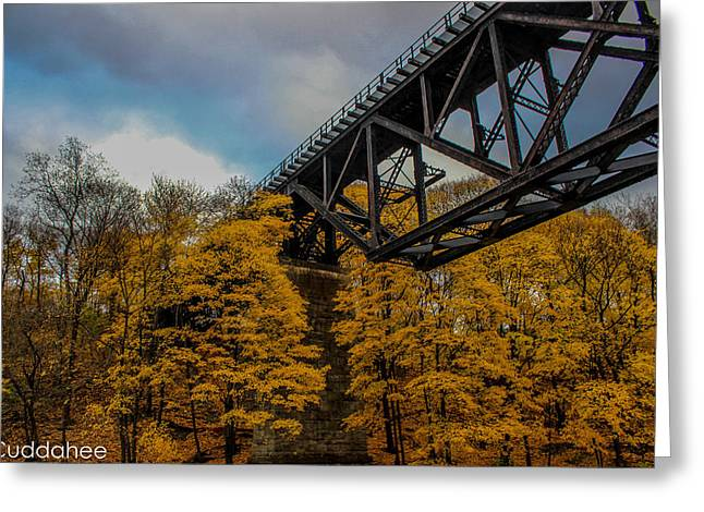 Brdige Greeting Cards - Bridge of Size Greeting Card by Jesse Cuddahee