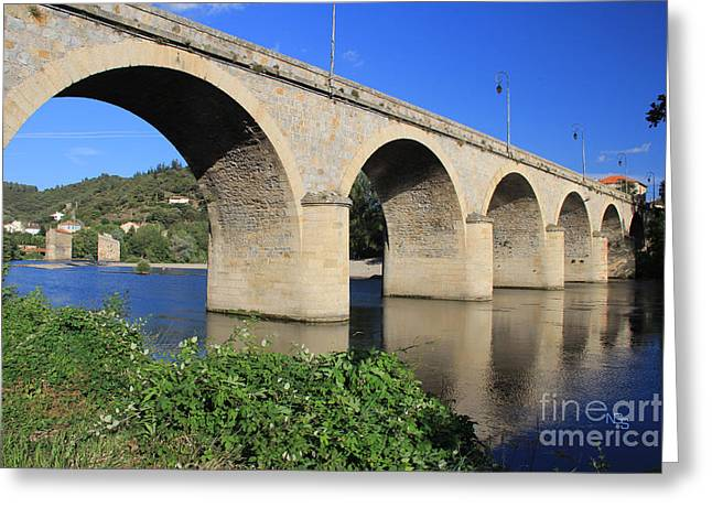 Roquebrun Greeting Cards - Bridge of the Orb Greeting Card by Nelson  Smith