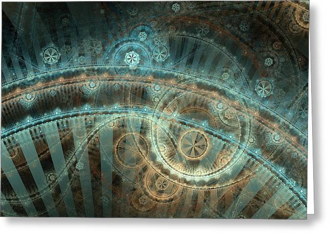 Apophysis Digital Art Greeting Cards - Bridge of Time Greeting Card by David April