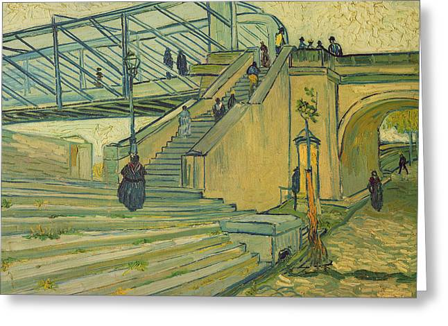 Bridge Of Trinquetaille Greeting Card by Vincent van Gogh