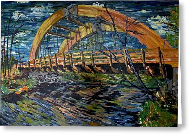 Impressionist Greeting Cards - Bridge on County Rd. 27 Greeting Card by Denny Morreale