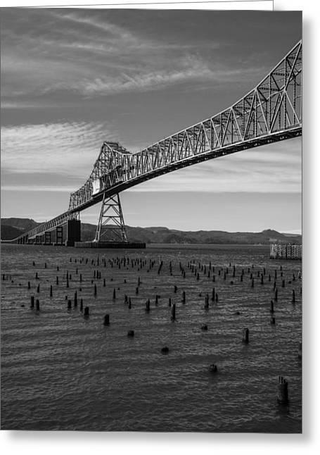 Bridge Over Columbia Greeting Card by Jeff Kolker