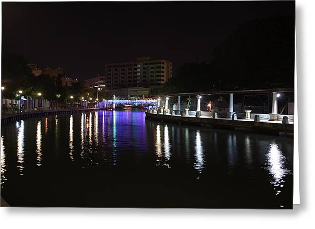 Water Greeting Cards - Bridge over still waters Greeting Card by John Buxton