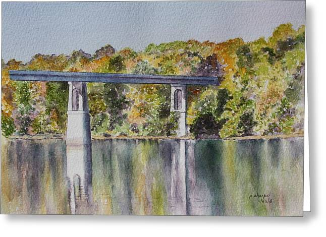 Patsy Sharpe Greeting Cards - Bridge Over the Cumberland Greeting Card by Patsy Sharpe