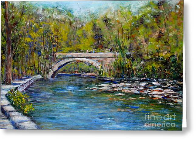 Stones Pastels Greeting Cards - Bridge Over Wissahickon Creek Greeting Card by Joyce A Guariglia