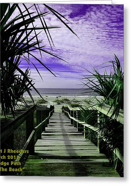Cellphone Pastels Greeting Cards - Bridge Path to the Beach V a Greeting Card by Gert J Rheeders