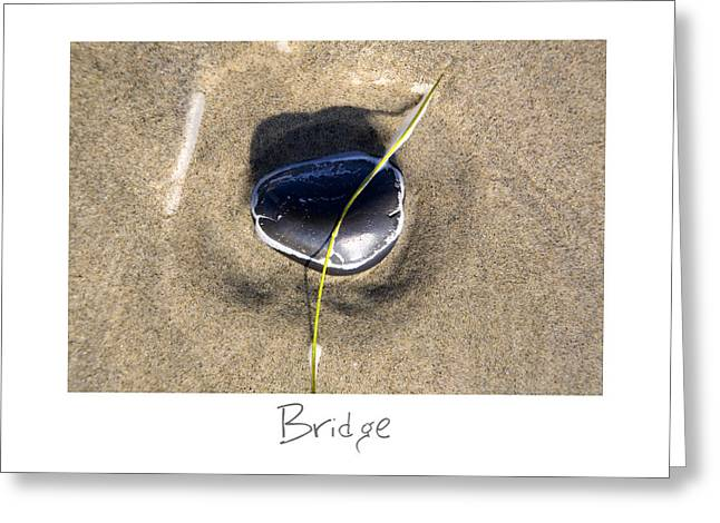 Sand Art Greeting Cards - Bridge Greeting Card by Peter Tellone