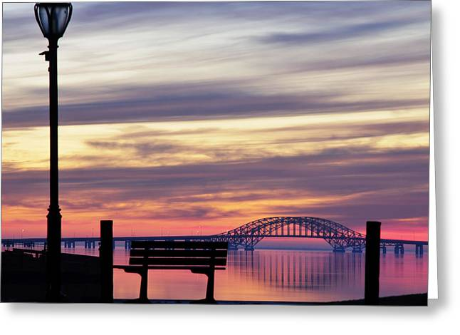 Robert Moses Greeting Cards - Bridge Reflection Greeting Card by Vicki Jauron