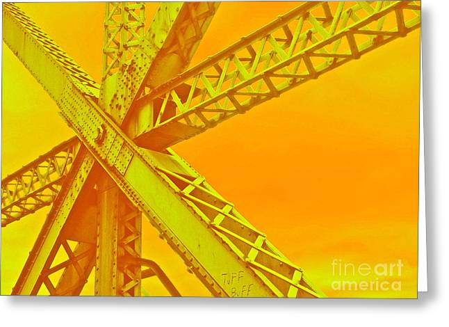 Train Bridges Greeting Cards - Bridge Seeking Greeting Card by Gwyn Newcombe