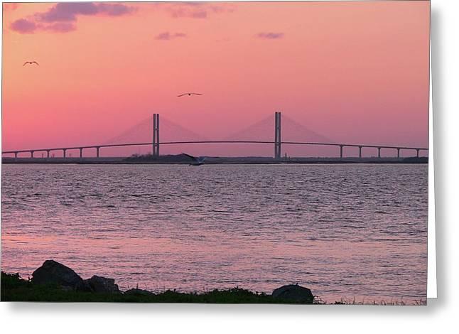 Al Powell Photography Usa Greeting Cards - Bridge Sunset Greeting Card by Al Powell Photography USA