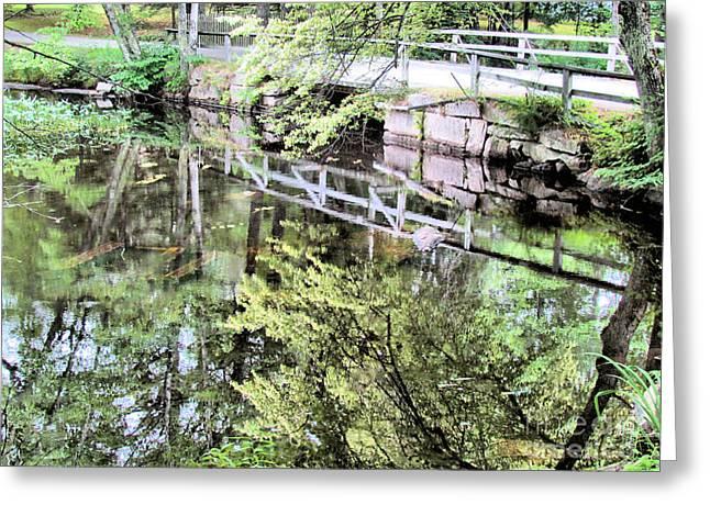 Bridge To Brookside Cemetery Greeting Card by Elizabeth Dow