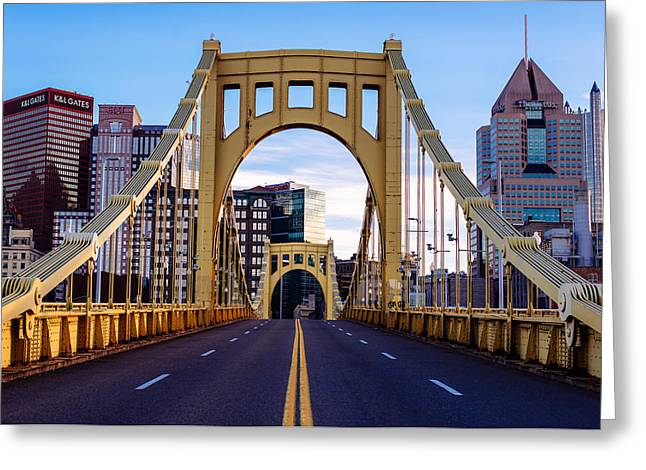 Bridge To Pittsburgh Greeting Card by Paul Scolieri