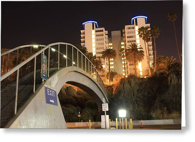 Pch Greeting Cards - Bridge to Santa Monica Greeting Card by Sheri  Neva