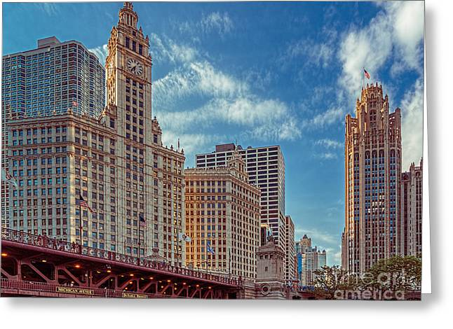 Magnificent Mile Greeting Cards - Bridge to the Magnificent Mile Greeting Card by Izet Kapetanovic