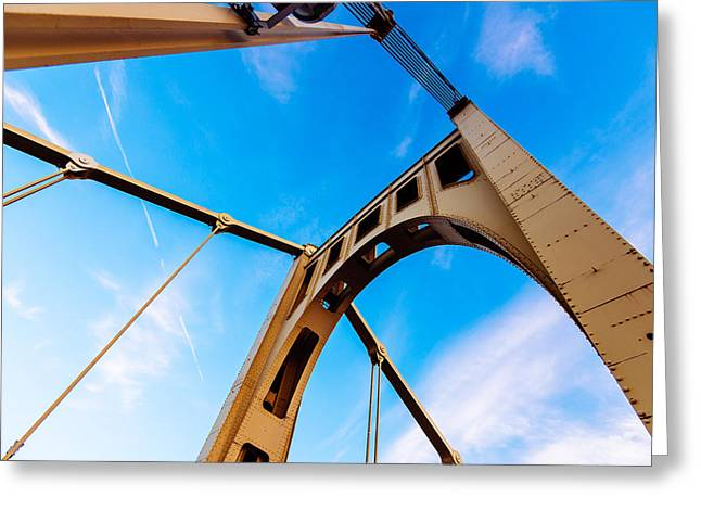 Clemente Greeting Cards - Bridge to the Sky Greeting Card by Paul Scolieri