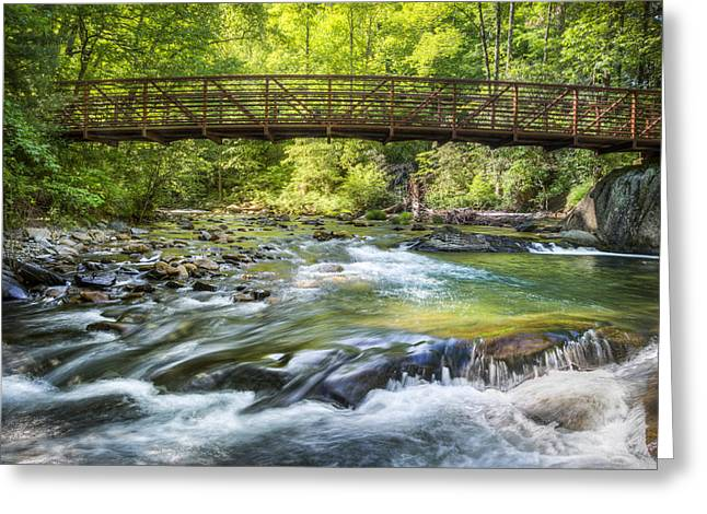 Tn Greeting Cards - Bridge to Tranquility Greeting Card by Debra and Dave Vanderlaan