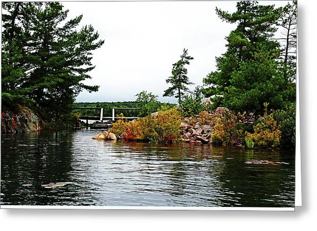 Wooden Stairs Greeting Cards - Bridged Islands Greeting Card by Debbie Oppermann