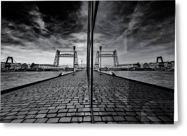 Bridges All Over Greeting Card by Gerard Jonkman