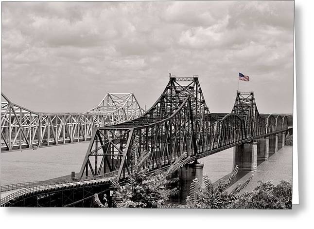Bridges At Vicksburg Mississippi Greeting Card by Don Spenner