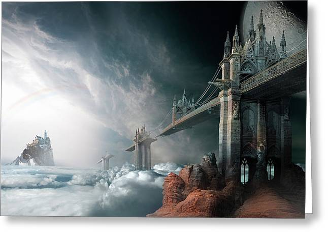Bridges To The Neverland Greeting Card by George Grie