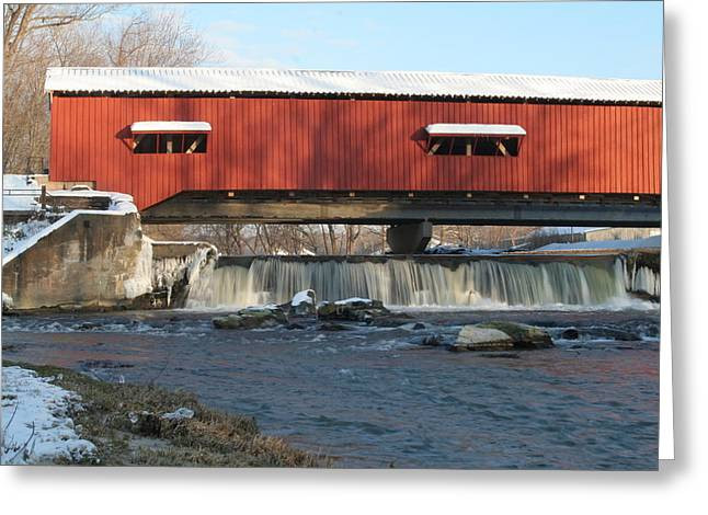 Bridgeton Covered Bridge Greeting Cards - Bridgeton Bridge Greeting Card by Jeff VanDyke