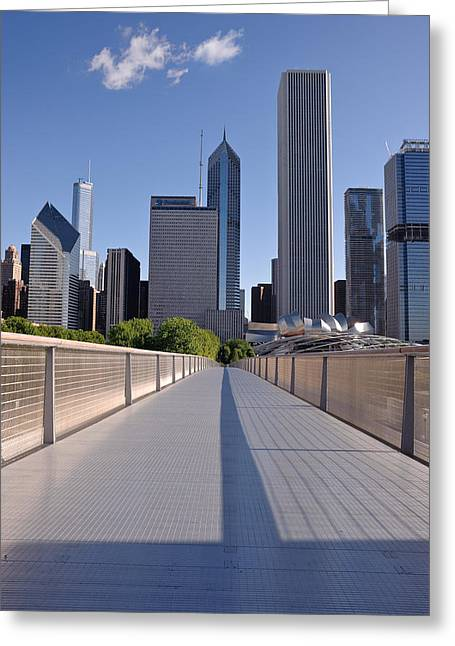 Institute Greeting Cards - Bridgeway To Chicago Greeting Card by Steve Gadomski
