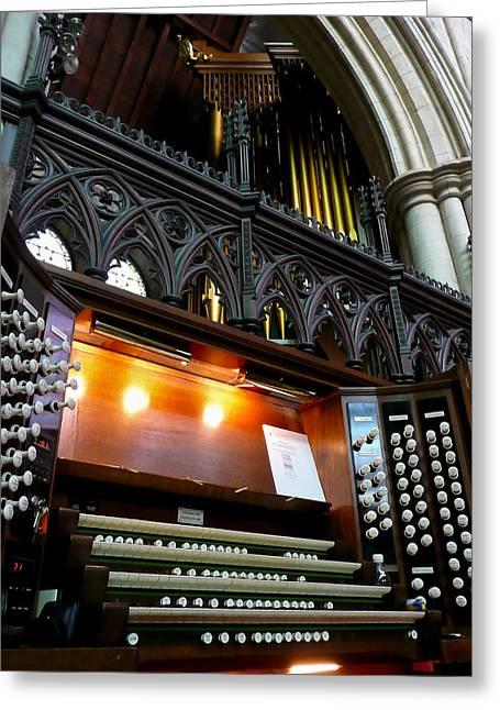 Bridlington Priory Pipe Organ Greeting Card by Jenny Setchell