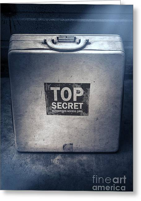 Brief Case Of Top Secret Espionage Greeting Card by Jorgo Photography - Wall Art Gallery