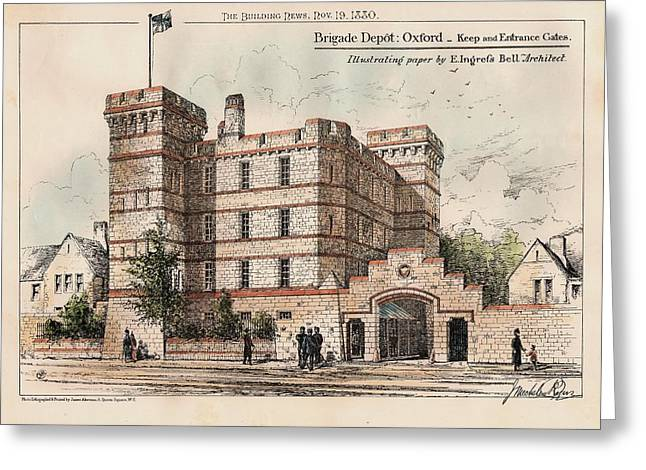 Brigade Greeting Cards - Brigade Depot Oxford England 1880 Greeting Card by Ingrefs Bell