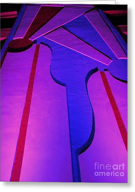 Pink Reliefs Greeting Cards - Bright Abstract Greeting Card by John Malone
