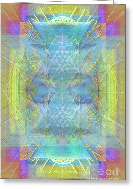 Bright Chalice Ancient Symbol Tapestry Greeting Card by Christopher Pringer