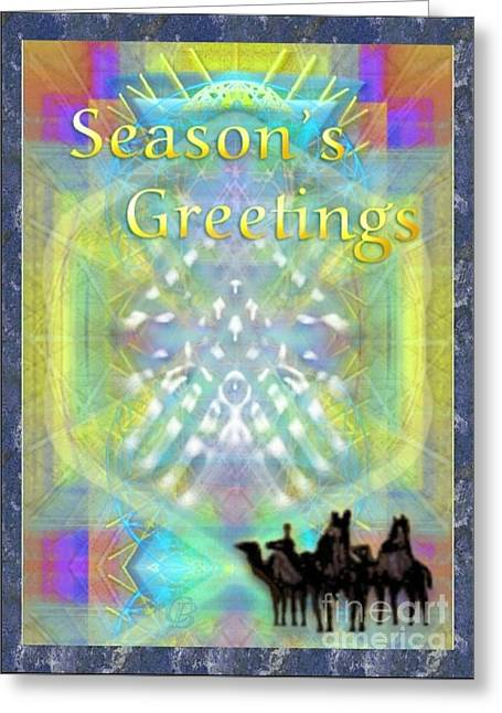 Bright Chalice Tree N 3 Kings Greeting Card by Christopher Pringer