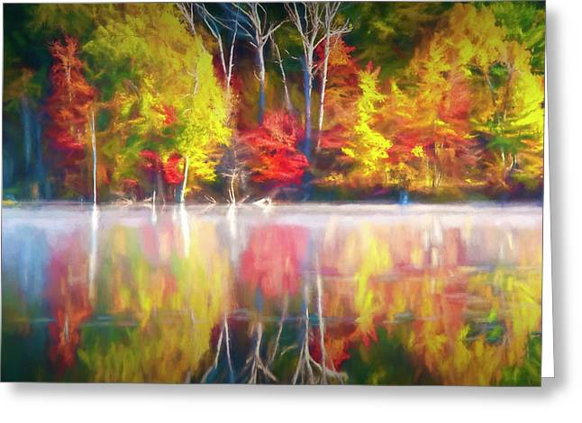 Bright Colorful Reflections Greeting Card by Randall Nyhof