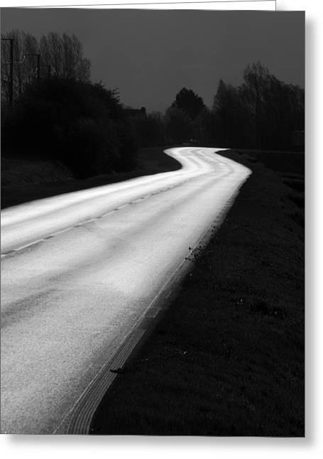 Roadway Greeting Cards - Bright Destination Greeting Card by Antonio Costa