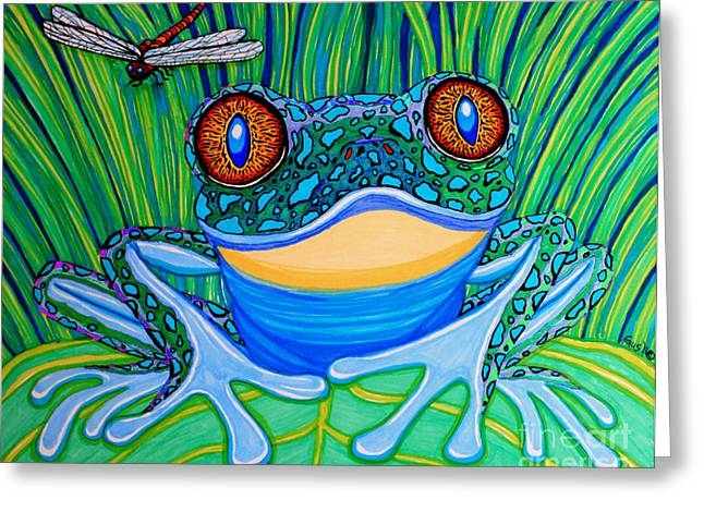 Dragon Flies Greeting Cards - Bright Eyes 2 Greeting Card by Nick Gustafson