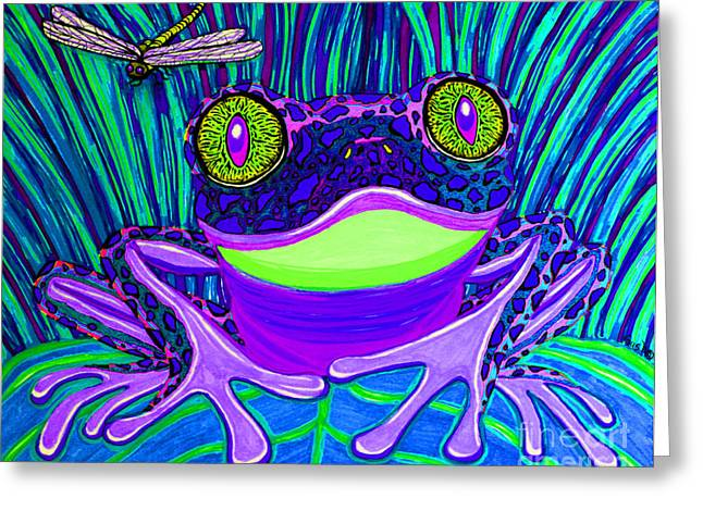 Bright Eyes 3 Greeting Card by Nick Gustafson