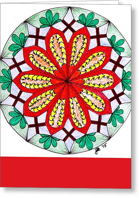 Pen And Ink Drawing Greeting Cards - Bright Flower Greeting Card by Lori Kingston