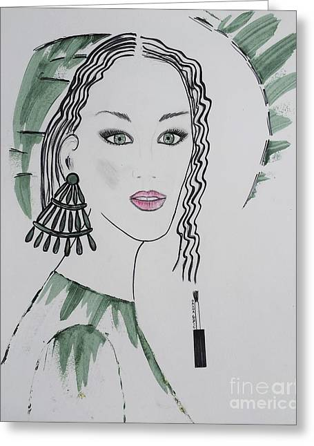 Art Book Greeting Cards - Bright Lady Greeting Card by Jasna Gopic