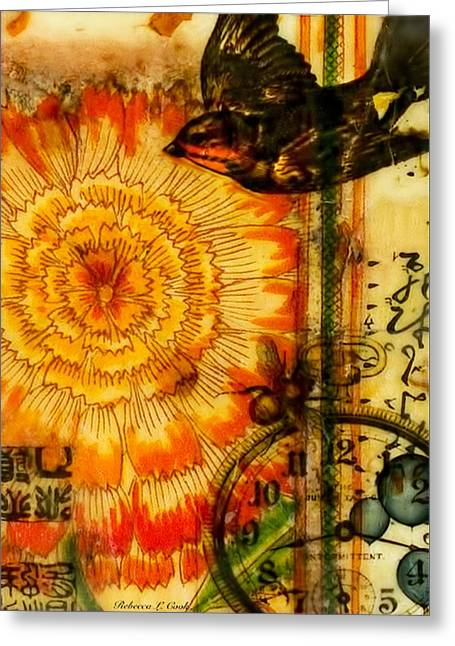 Bright Life Encaustic Greeting Card by Bellesouth Studio