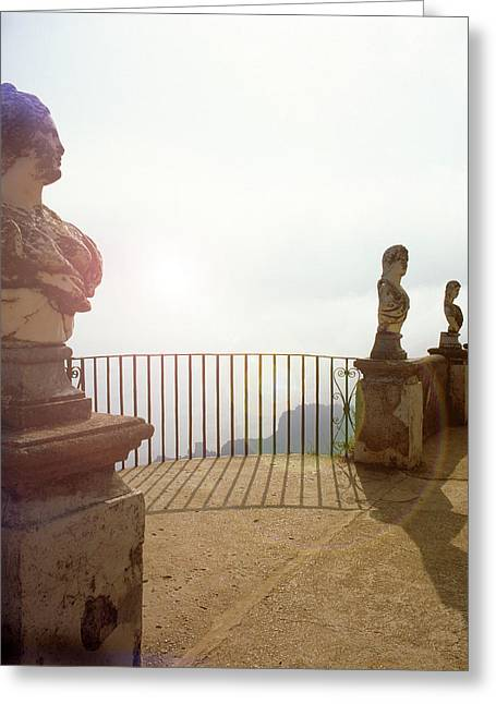 Sienna Italy Greeting Cards - Bright Light Villa Overlook Ravello Greeting Card by Martin Sugg