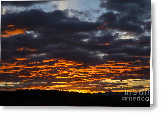 Sunset Prints Greeting Cards - Bright Orange Clouds Greeting Card by Alana Ranney