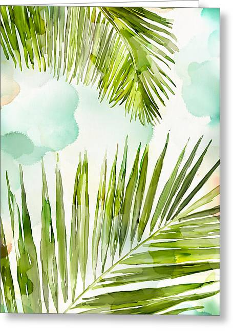 Bright Palm Greeting Card by Mauro DeVereaux