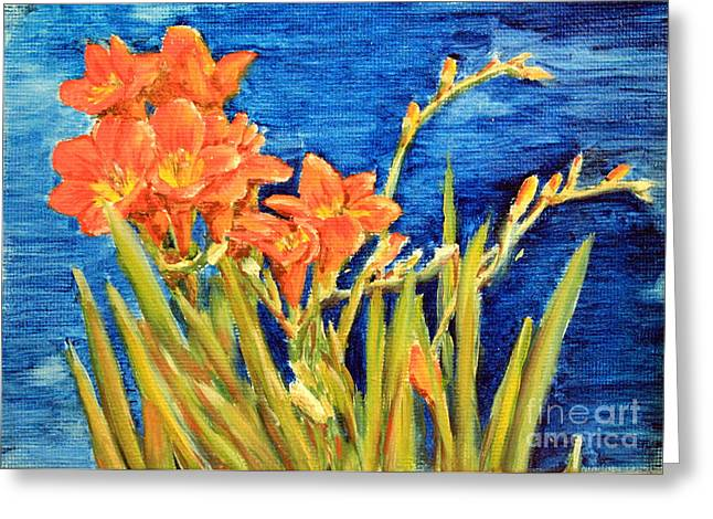 Sokolovich Paintings Greeting Cards - Bright Sents Greeting Card by Ann Sokolovich