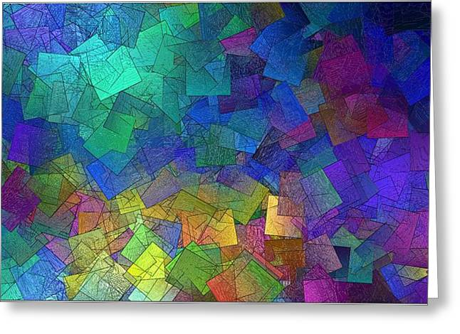 Bright Squares Greeting Card by Gt
