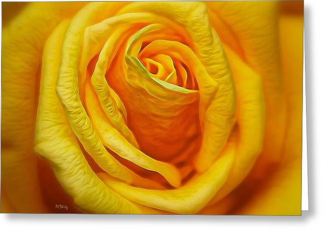 Purchase Greeting Cards - Bright Yellow Rose Greeting Card by Patrick Witz