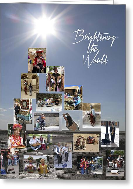 Brightening The World Greeting Card by Doug Matthews